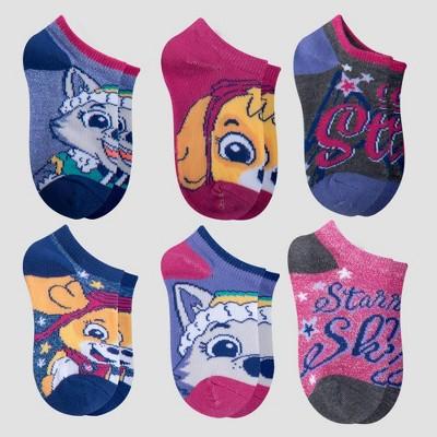 Girls' PAW Patrol 6pk Socks - Purple