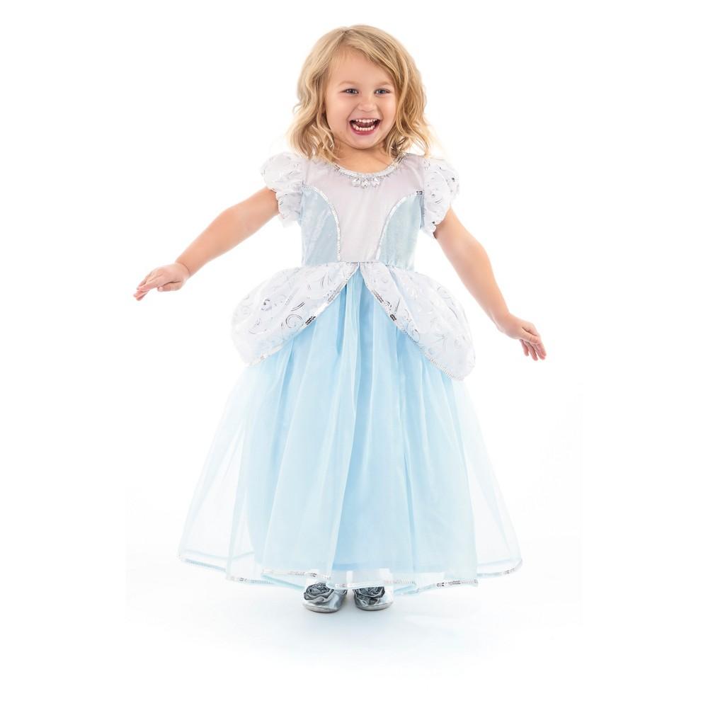 Little Adventures Child's Deluxe Cinderella Dress - M, Girl's, Blue