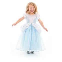 Little Adventures Girls' Deluxe Cinderella Dress - XL, Blue