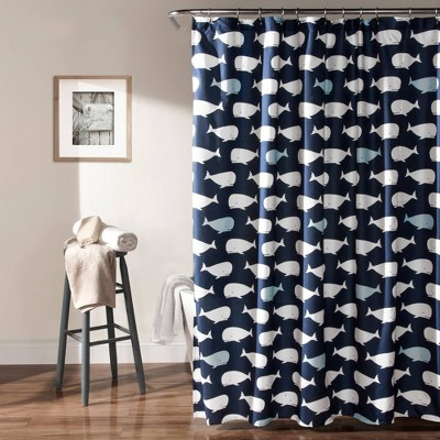 Whale Shower Curtain - Lush Décor