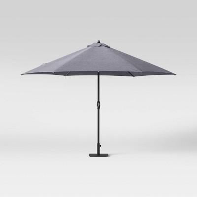 10' Patio Umbrella DuraSeason Fabric™ Charcoal Gray - Threshold™