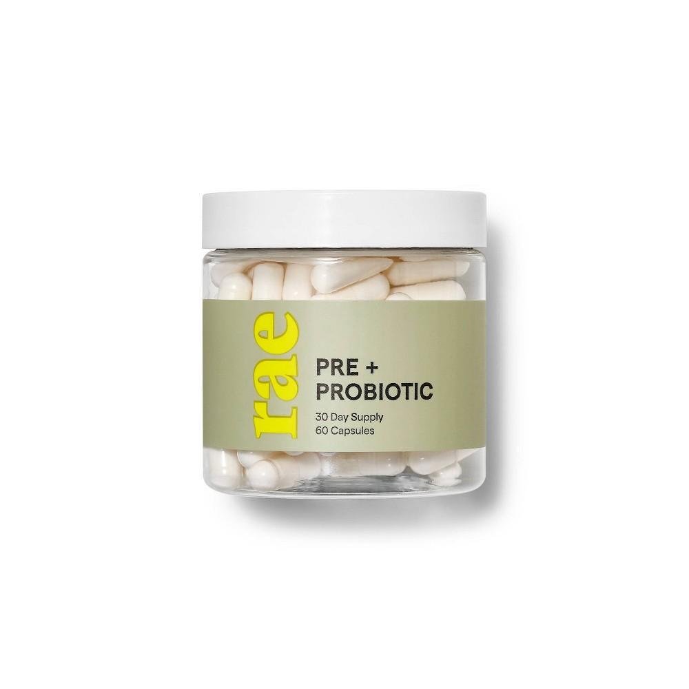 Image of Rae Pre + Probiotic Dietary Supplement Capsules - 60ct, Adult Unisex
