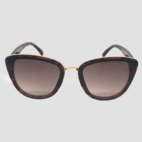 Women's Cateye Sunglasses - A New Day™ Brown - image 1 of 2