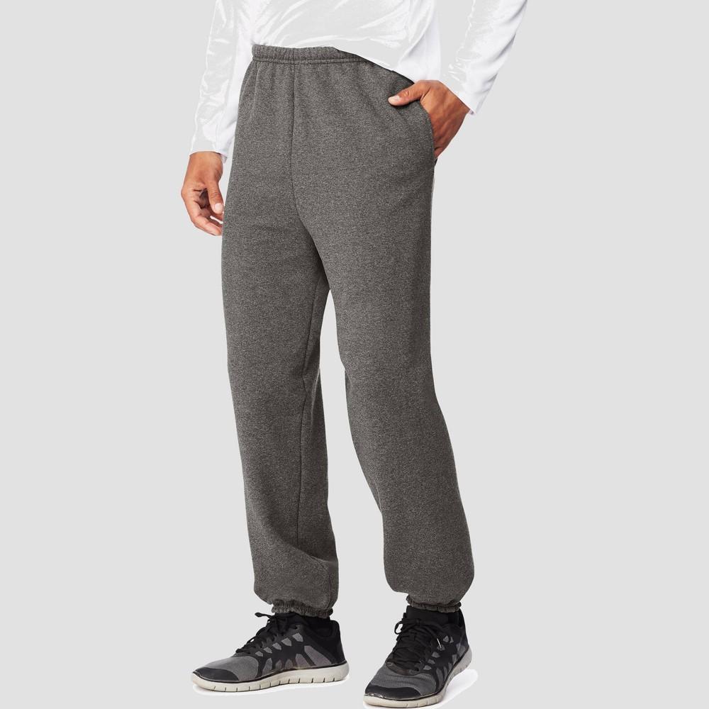 Hanes Men S Ultimate Cotton Sweatpants Charcoal Heather S