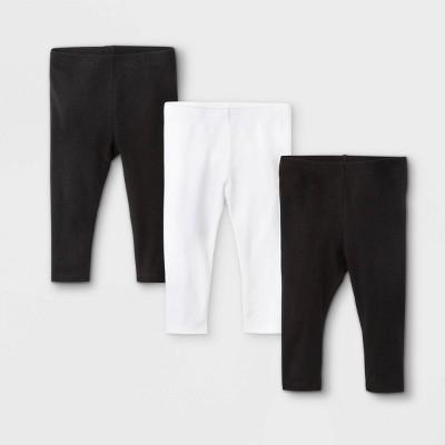 Baby Girls' 3pk Ruffle Leggings - Cat & Jack™ White
