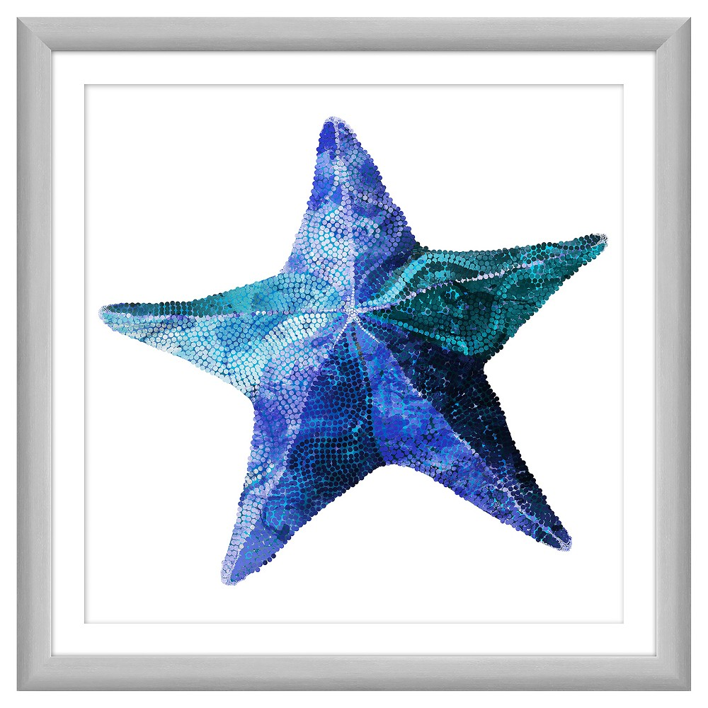 Aqua Starfish 18X18 Wall Art, Multi-Colored