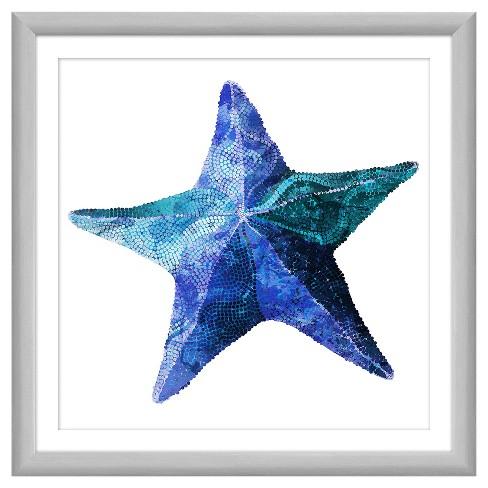 Aqua Starfish 18X18 Wall Art - image 1 of 1