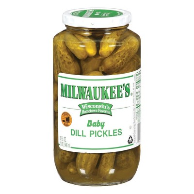 Milwaukee's Plain Baby Dill Pickles - 32 fl oz