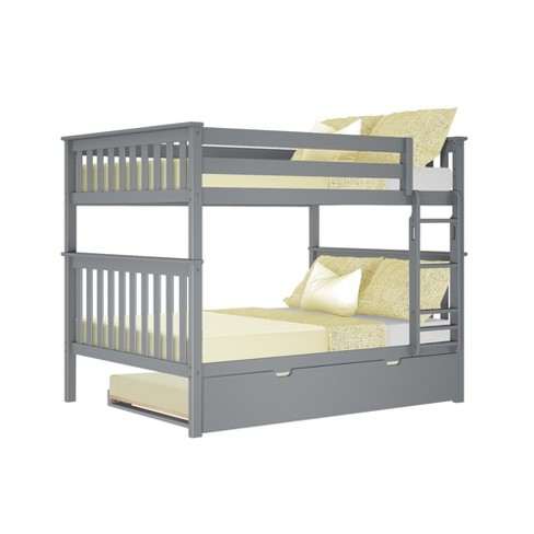 Max Lily Full Over Full Bunk Bed With Trundle Bed Target
