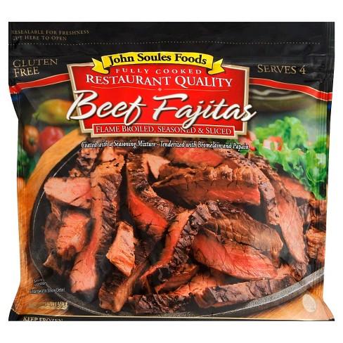 John Soules Foods Fully Cooked Beef Fajitas - Frozen - 12oz - image 1 of 1