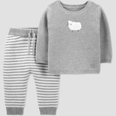 Baby Sheep Knit Top & Bottom Set - Just One You® made by carter's Gray 3M