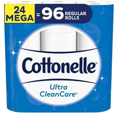 Cottonelle Ultra CleanCare Toilet Paper 1 Ply Sheet - 24 Mega Rolls