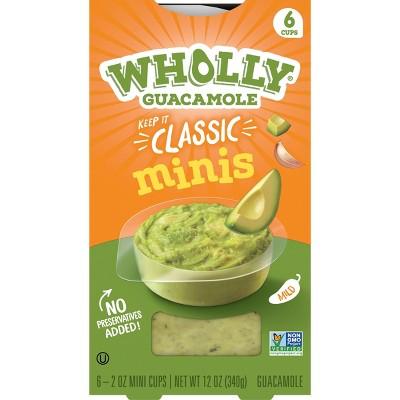 Wholly Guacamole Classic Mini Bowls - 2oz/6ct
