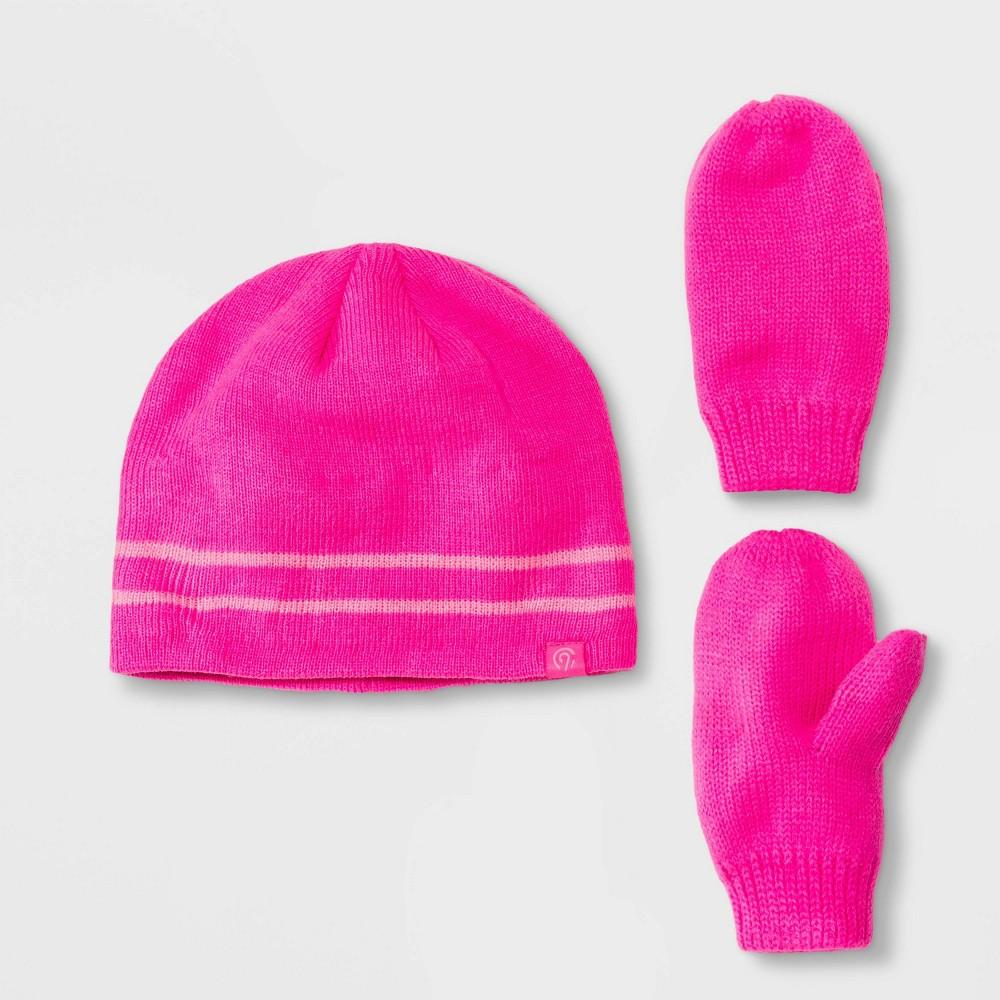 Image of Baby Girls' Hat & Gloves Set - C9 Champion Pink 12-24M, Toddler Girl's