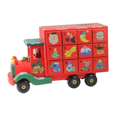 "Northlight 14"" Red Children Advent Calendar Storage Truck Christmas Decor - image 1 of 3"