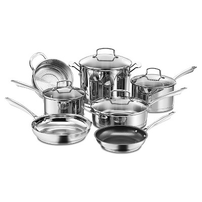 Cuisinart® Professional Series Stainless Steel 11 Piece Cookware Set w/cover - 89-11