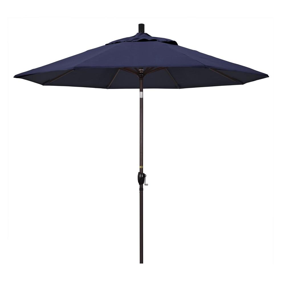 9 Aluminum Push Tilt Patio Umbrella Navy