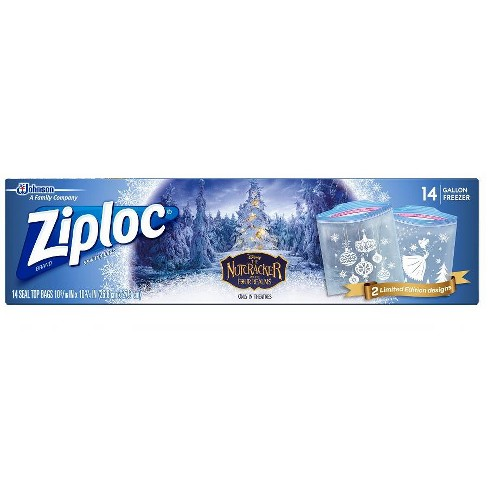 Ziploc Holiday 17ct Green Storage Gallon Slider - image 1 of 4
