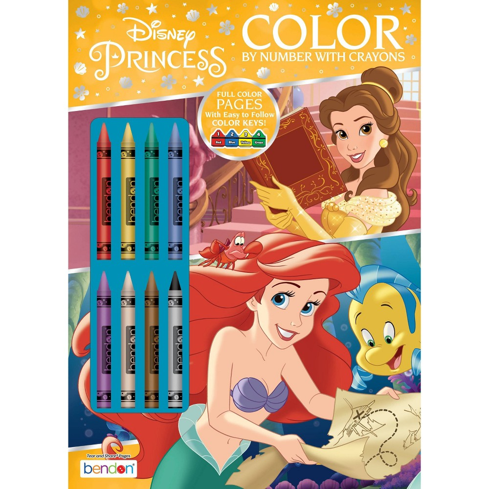 Disney Princess Color By Number With Crayons