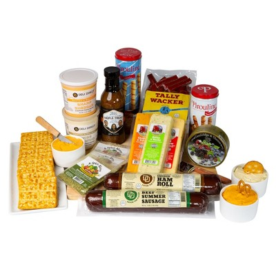 Northlight 15pc Extravaganza Picnic Party Sausage and Cheese Gift pack