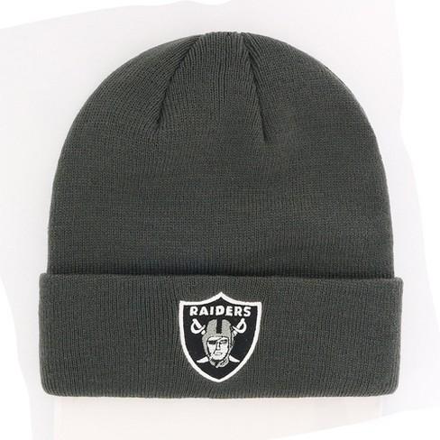 NFL Oakland Raiders Cuff Knit Beanie By Fan Favorite   Target 32c0fd88328