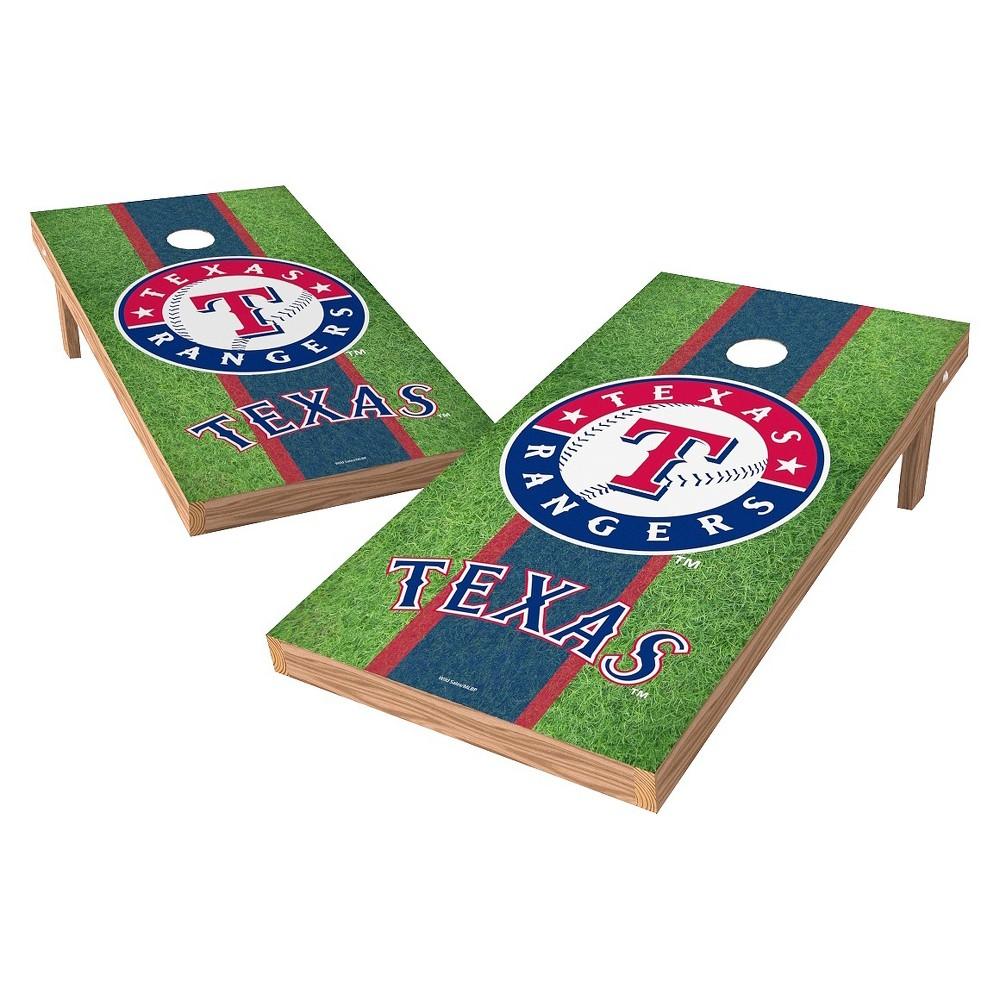 Texas Rangers Wild Sports XL Shield Field Cornhole Bag Toss Set - 2x4 ft.