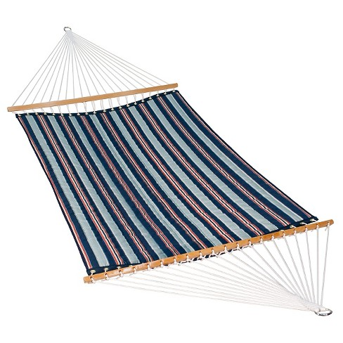 Algoma 13' Quilted Hammock - Reversible- Kingston Stripe Arbor/Arbor Blue Solid - image 1 of 2