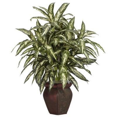 "30"" x 26"" Artificial Aglaonema Plant in Decorative Vase - Nearly Natural"