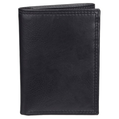 Men's Slim Trifold Wallet with ID Window and Stitch Design - Goodfellow & Co™ Black - image 1 of 4