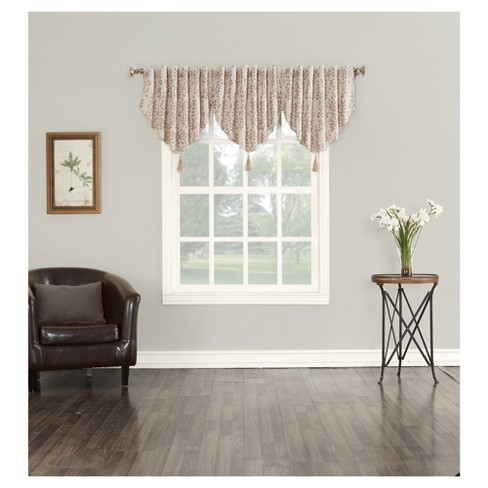 "Rona Blackout Lined Back-Tab Valance (52""x24"") Sun Zero - image 1 of 3"