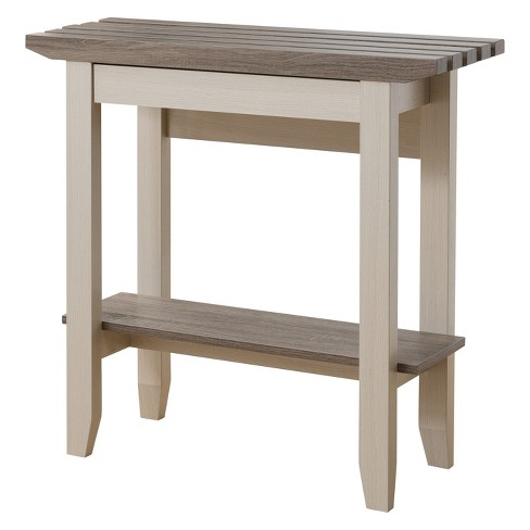 Parish Transitional Console Table Ivory/Distressed Taupe - ioHOMES - image 1 of 4