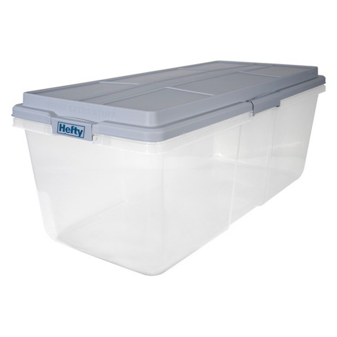 Hefty 113qt Hi-Rise Clear Storage Box - image 1 of 3