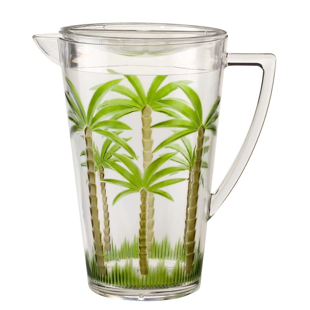 Image of Palm Tree Acrylic Pitcher with Lid