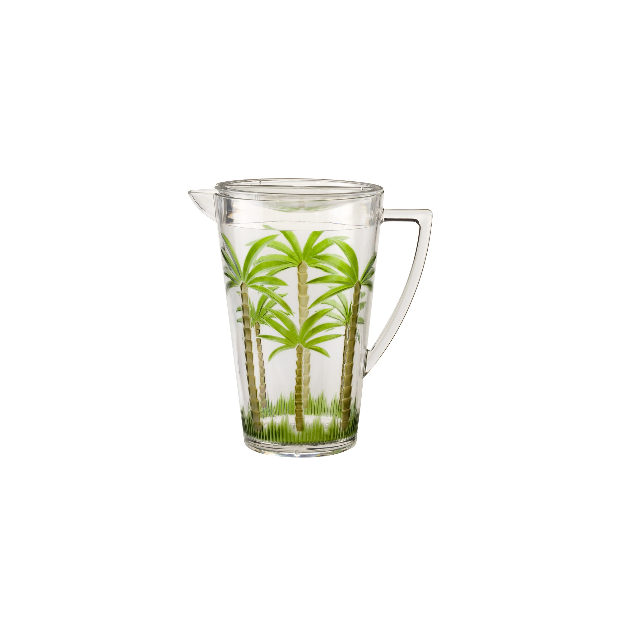 Palm Tree Acrylic Pitcher with Lid