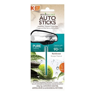 Enviroscent 3pk Car Air Freshener Rainforest