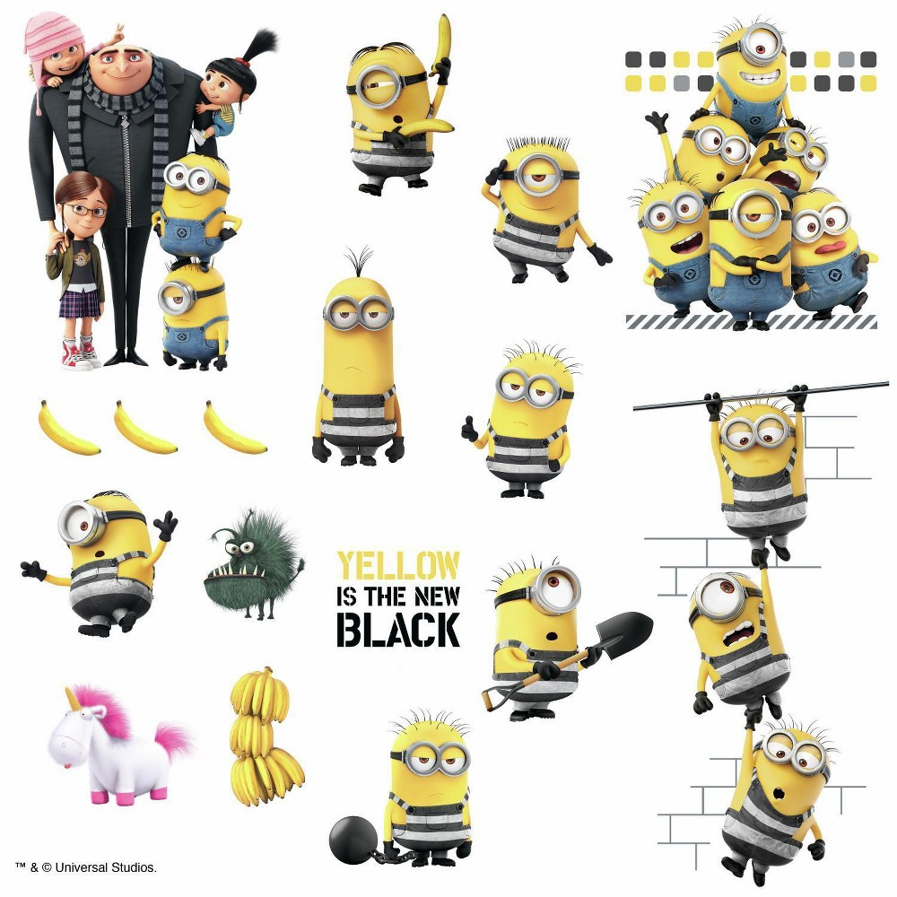 Image of RoomMates Despicable Me 3 Peel and Stick Wall Decal 4 Sheets