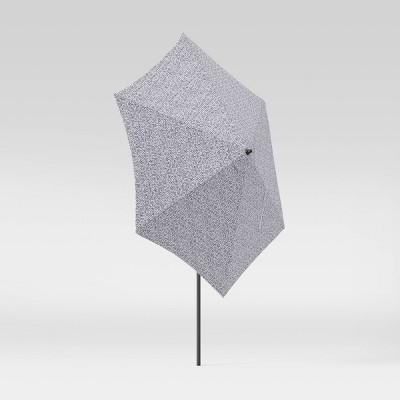 9' Round Patio Umbrella DuraSeason Fabric™ Farris Black - Black Pole - Threshold™