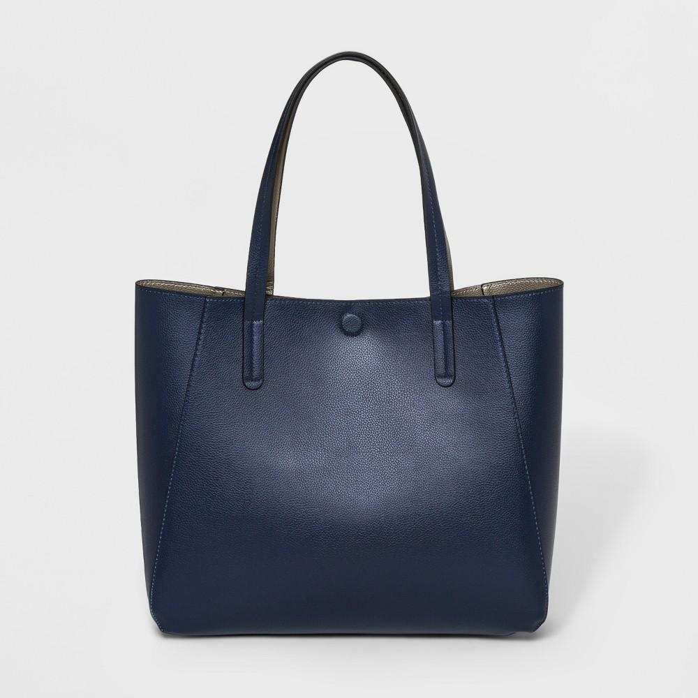 Small Reversible Tote Handbag - A New Day Navy (Blue), Women's