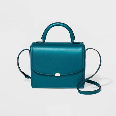 Top Handle Satchel Handbag - A New Day™ Seaside Teal