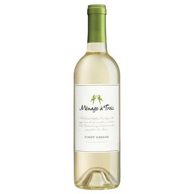 Menage A Trois Pinot Grigio White Wine - 750ml Bottle