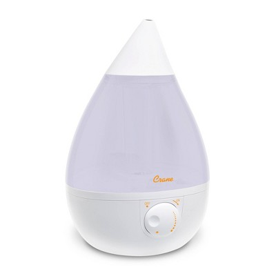 Crane Drop Ultrasonic Cool Mist Humidifier - White
