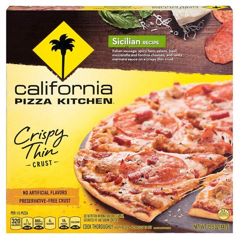 California Pizza Kitchen Crispy Thin Crust Sicilian Recipe Frozen ...