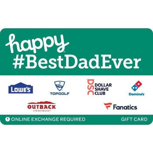 Happy BESTDADEVER Gift Card (Email Delivery) - image 1 of 1