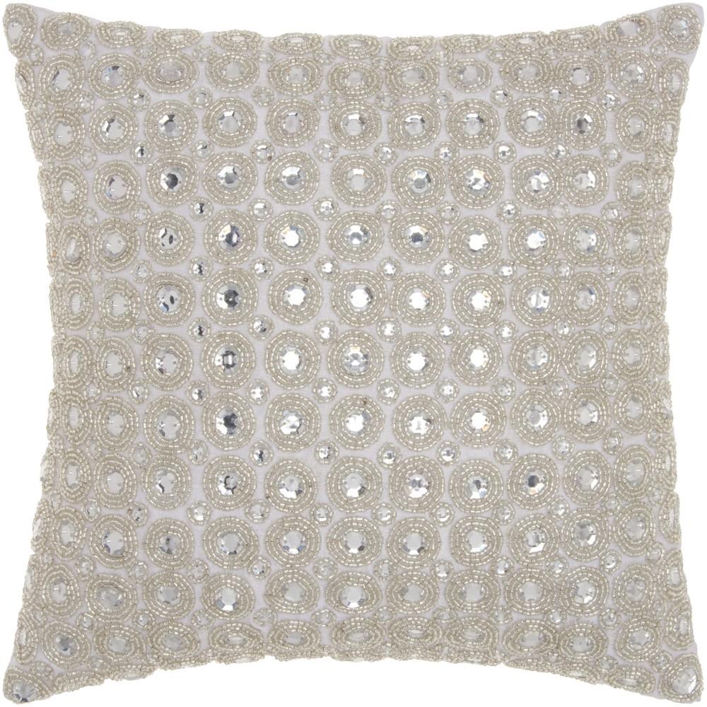 Image of White Mosaic Throw Pillow - Mina Victory