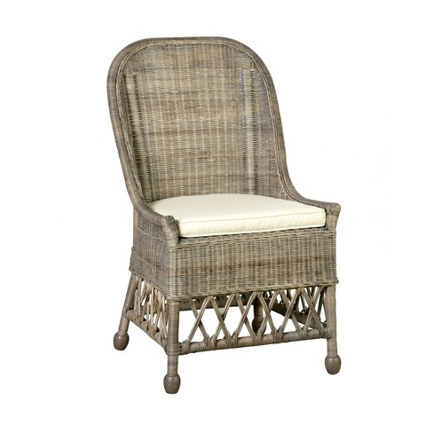 Kristine Rattan Dining Chair Gray East At Main Target