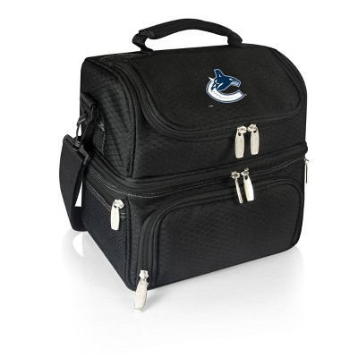 NHL Vancouver Canucks Pranzo Dual Compartment Lunch Bag - Black