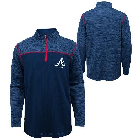MLB Atlanta Braves Boys' In the Game 1/4 Zip Sweatshirt - image 1 of 3