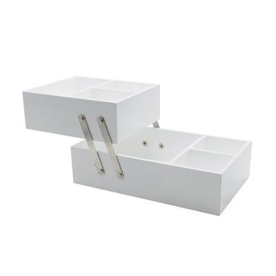 Hinged Vanity Organizer 10 X6 X5  White - Threshold™