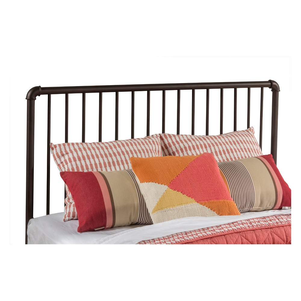 Brandi Metal Headboard (Duo Panel) Queen Headboard Frame Not Included Oiled Bronze - Hillsdale Furniture, Brown