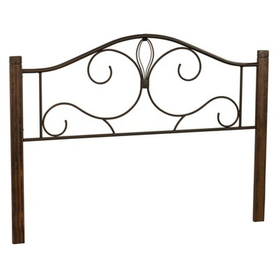 Metal Headboard with Textured Black Wood - Hillsdale Furniture